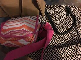 Used ladies handbags multi colours x 5 job lot £12