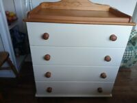 Baby Changing table-chest of drawer