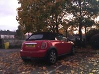 mini one convertible 2010 red 1.6 fsh 44k low miles cheap insurance