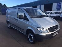 MERCEDES VITO 111 cdi lwb 2007, 68500 MILES, IN SILVER, TWIN SIDE DOORS