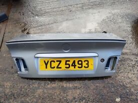 BMW E46 SALOON REAR BOOT LID WITH SPOILER FACE LIFT LIGHT BLUE