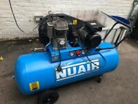 Nuair 200 litre air compressor