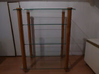 Stands Unique 5 shelf ST750 Hardwood spiked hifi rack