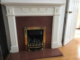 Baxi Gas fireplace & marble,wood surrond.