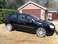 2008 (58) Volkswagen Golf 1.4 S 3dr, Black, Excellent condition