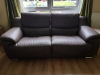 Reid 3 Seater Leather Recliner