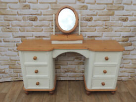 Welsh Pine Heavy duty Dresser with Mirror Shabby chic (Delivery)
