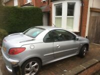 206cc 2004 Peugeot convertible NO MOT.. parts spares scrap