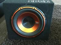 10 inch Edge subwoofer with built in amp - very loud