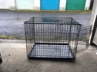 Dog Crate - 2 door folding, medium 30 inch [76.2cm], non-chew crate.