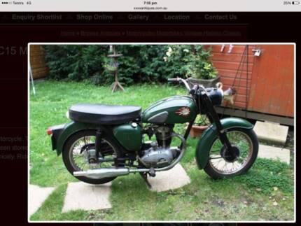 1960 BSA C15 250cc Motorcycle