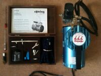 Rotring 777 Compressor and Airbrush Kit