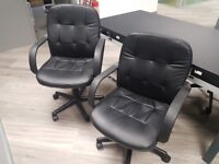 black office chairs with armrests 40 pounds each