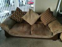 Fabric sofa and two chairs