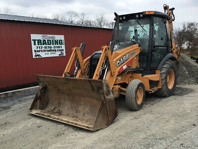 2014 Case 580sn 2wd Tractor Loader Backhoe W Cab Extendahoe Only 4000 Hours