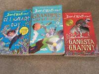 David Walliams Books - Gangsta Granny, Billionaire Boy, Grandpa's Great Escape
