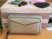 Woman silver purse