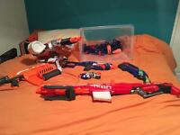 Collection of NERF GUNS with lots of ammo