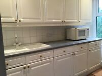White Kitchen Floor and Wall Cabinet Units