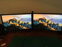 2 x 24 inch IPS Panel monitors. AOC i2476vwm. Barely used, perfect condition. As pair or separately