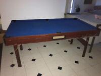 Pool table blue fold away