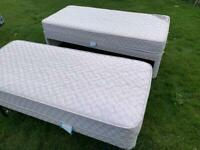 Single bed with second bed underneath. Two mattresses. Bedroom furniture