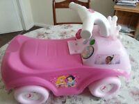 Kids Disney kiddieland car ride along.