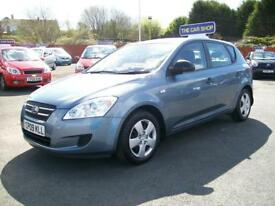 KIA CEED 1.4 S NICE 5 DOOR FULL SERVICE HISTORY (monsoon blue) 2009