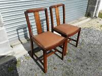 Pair of dining. kitchen or bedroom chairs