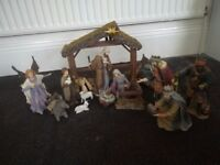 Beautiful Kirkland 12 figure Nativity set