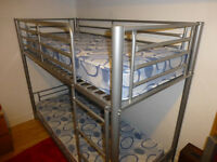 Childrens Metal Bunk Beds, exellent condition