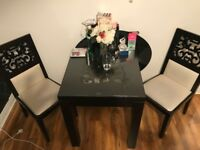 Square Dining Table and 2 Chairs - matching set