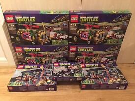 Collection of brand new and sealed Lego Teenage Mutant Ninja Turtles sets. All sets are retured