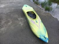 Kayak - Savage Fury Playboat (green with purple graphics)