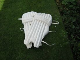 Calf leather cricket pads