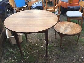 Handmake solid oak table