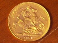 Full gold Sovereign Victoria 1898 M graduated EXTREMELY FINE