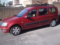 LHD left hand drive Dacia Logan MCV LPG (7 seater) 2012 red 1st owner POLISH plates
