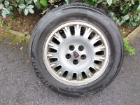 Rover 75 Crown Alloy Wheels x 4 DUNLOP TYRES 4-5mm Tread