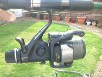1 x Shimano Aero 6000 re baitrunner reel and 1 x Mitchell 362 2 lbs test curve Carp Fishing rod