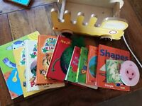 A Selection Of Childrens Books - Comes With A Pull Along Bus For Children To Easily Transport
