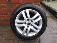 vw 16 inch alloy wheel and tyre