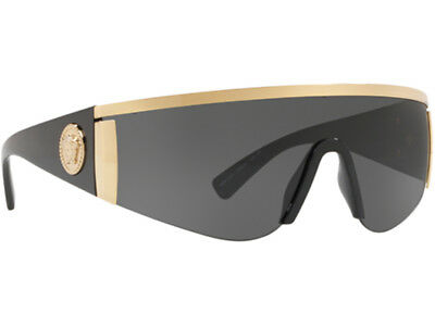 ecdab8b07f NWT Versace Sunglasses VE 2197 1000 87 Gold Black   Gray 40 mm 100087 NIB