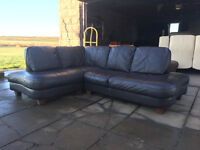 xDFS brown leather corner sofa DELIVERY AVAILABLE