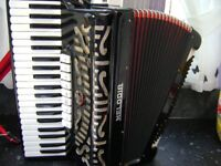 melodia 120 bass accordion musette tuned. ( more accordions for sale )