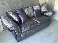 Crushed Velvet sofa 3 plus 2 with FREE DELIVERY AND SETUP