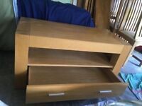 Solid oak tv & console cabinet