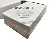 New Small Double 4ft Orthopaedic Divan Bed. Very Firm High Quality Foam Mattress
