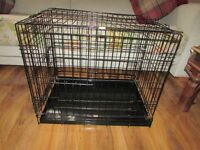 Small-Medium Black Wire Dogcage Puppy/dog cage kennel for indoors or car