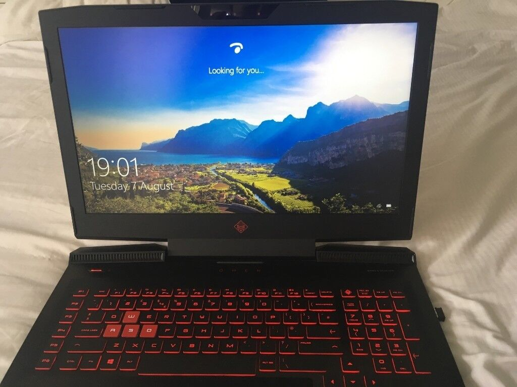 HP OMEN 17in i7 7700HQ/GTX 1060 6GB/16GB RAM NVME SSD M 2 Gaming Laptop +  Headset and Folding stand   in Stanley, County Durham   Gumtree